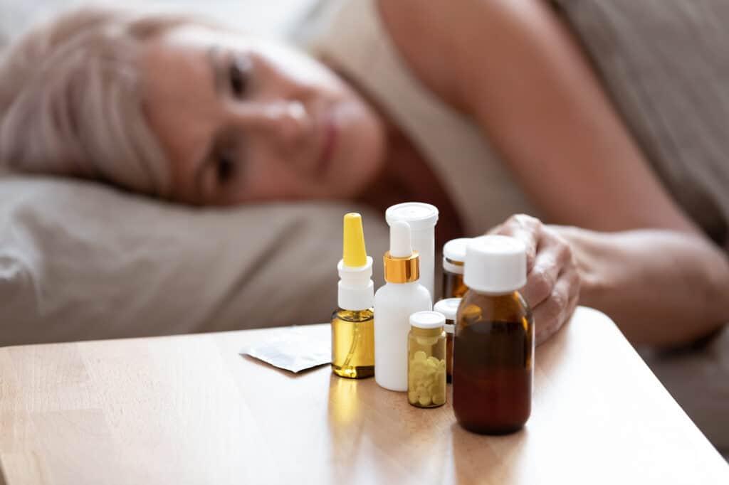 Meds on nightstand